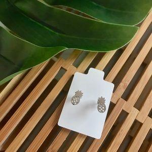 🆕925 Sterling Silver Pineapple Stud Earrings